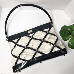 Beijo Susan Handley Black & White Diamond Handbag